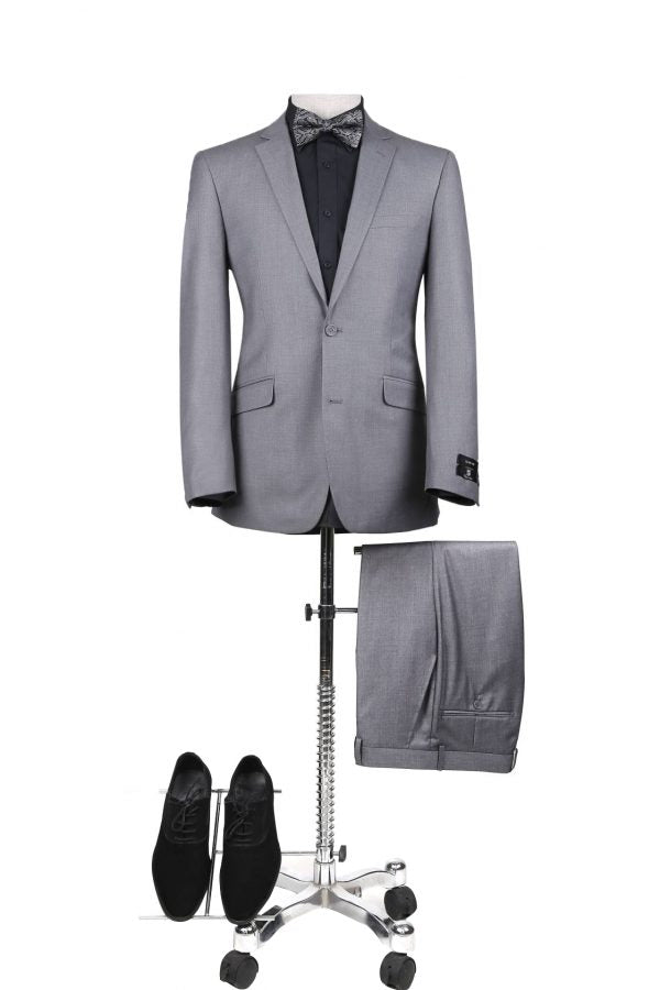 BUILD YOUR PROM PACKAGE: Light Grey Slim Fit Suit