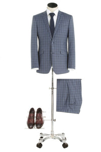 BUILD YOUR PACKAGE: Pattern Slim Fit Suit (Package Includes 2 Pc Suit, Shirt, Necktie or Bow Tie, Matching Pocket Square, & Shoes)