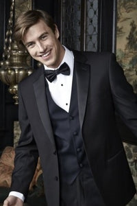 Black 2 Button Notch Tuxedo Rental Package $129.99 - $199.99