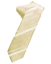 Load image into Gallery viewer, Harvest Maize Striped Satin Skinny Necktie