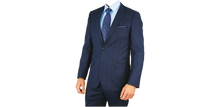 Load image into Gallery viewer, Navy Windowpane Suit
