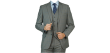 Load image into Gallery viewer, Grey Blue Windowpane Suit