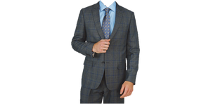 Grey Windowpane Suit