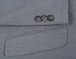 Grey Stretch Trim Fit 2 Pc Suit