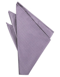 Platinum Herringbone Pocket Square
