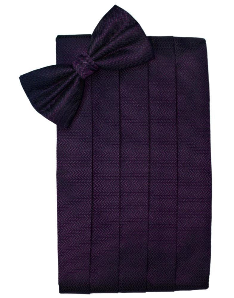Raisin Herringbone Cummerbund