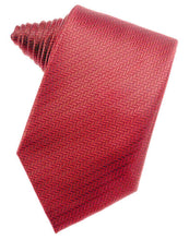 Load image into Gallery viewer, Fuchsia Herringbone Necktie