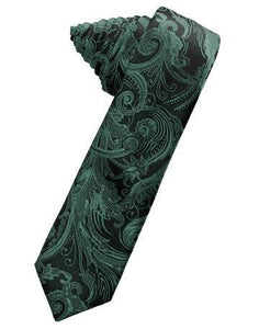 Harvest Maize Tapestry Satin Skinny Necktie