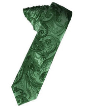 Load image into Gallery viewer, Guava Tapestry Satin Skinny Necktie