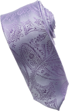 Load image into Gallery viewer, Grape Paisley Tone on Tone Necktie