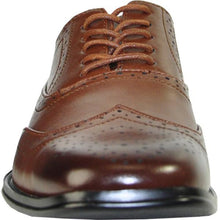 Load image into Gallery viewer, Mens Wingtip Oxford Dress Shoe