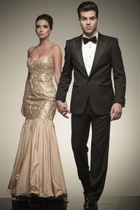 Peak Collar Black Tuxedo Rental Package $129.99 - $199.99