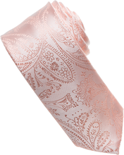 Load image into Gallery viewer, Hot Pink Paisley Tone on Tone Necktie