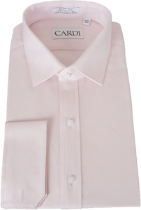 Pink Twill Spread Collar Dress Shirt