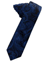 Load image into Gallery viewer, Harvest Maize Tapestry Satin Skinny Necktie