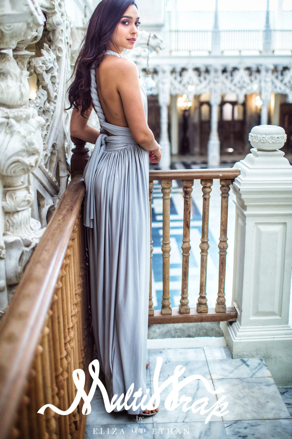 SILVER MULTI WRAP DRESS