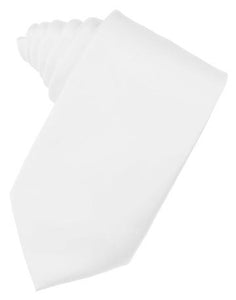 White Luxury Satin Necktie