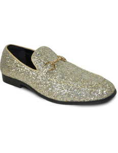 Men's Gold Glitter Dress Shoe for Prom & Wedding