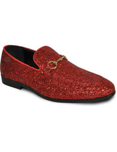 Men's Red Glitter Dress Shoe for Prom & Wedding