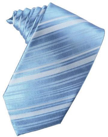 Cornflower Striped Satin Necktie