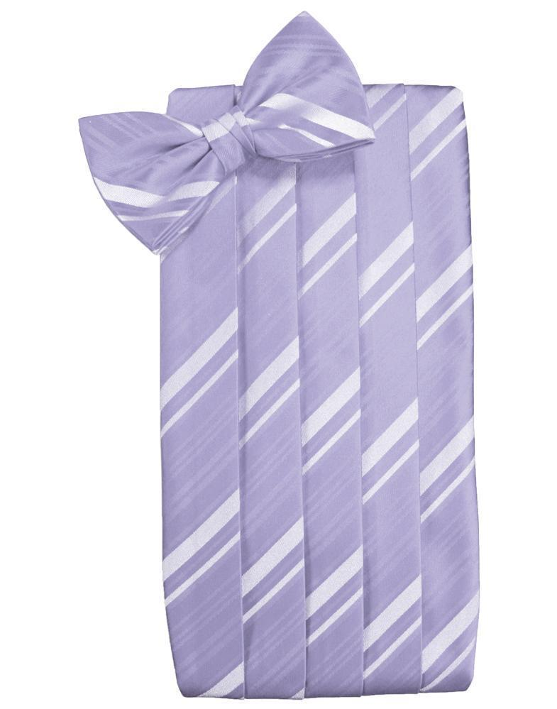 Periwinkle Striped Satin Cummerbund