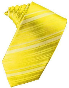 Sunbeam Striped Satin Necktie