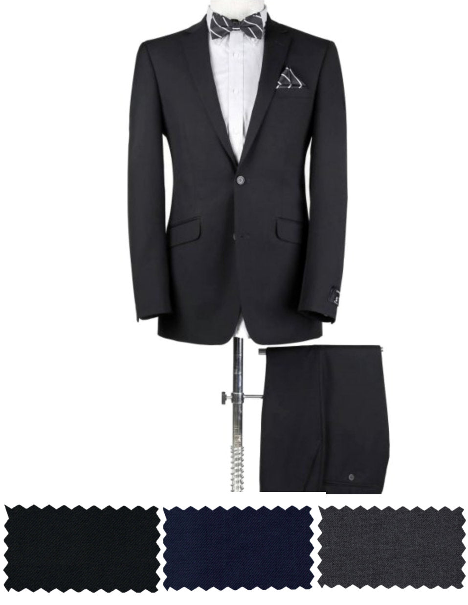 BUILD YOUR PACKAGE: Black, Grey or Blue Suit
