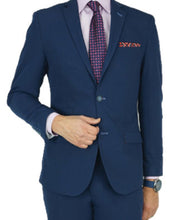 Load image into Gallery viewer, Navy Tailored Fit Suit
