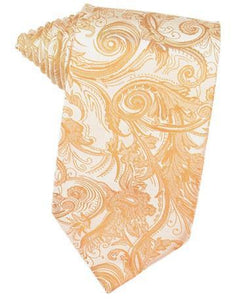 Apricot Tapestry Satin Necktie
