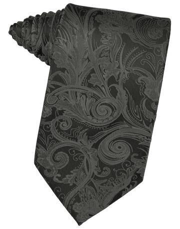 Charcoal Tapestry Satin Necktie