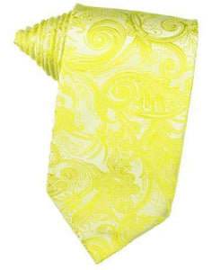 Lemon Tapestry Satin Necktie