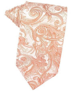 Peach Tapestry Satin Necktie
