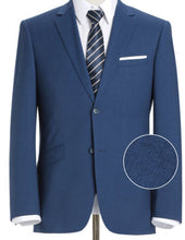 Load image into Gallery viewer, Blue Stretch Trim Fit 2 Pc Suit
