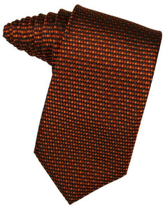 Peach Venetian Pin Dot Necktie