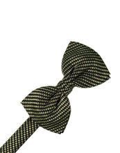 Load image into Gallery viewer, Platinum Venetian Pin Dot Bow Tie