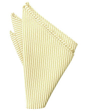 Load image into Gallery viewer, Lemon Venetian Pin Dot Pocket Square