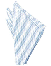 Load image into Gallery viewer, Turquoise Venetian Pin Dot Pocket Square