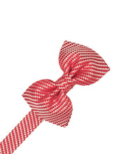 Load image into Gallery viewer, Ivory Venetian Pin Dot Bow Tie