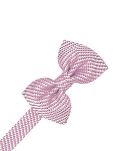 Platinum Venetian Pin Dot Bow Tie