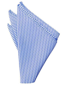 Silver Venetian Pin Dot Pocket Square