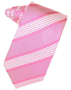 Fuschia Venetian Pin Dot Striped Necktie