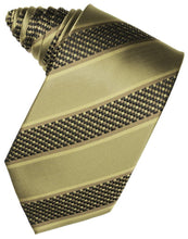 Load image into Gallery viewer, Light Champagne Venetian Pin Dot Striped Necktie