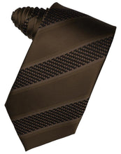 Load image into Gallery viewer, Peach Venetian Pin Dot Striped Necktie