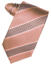 Load image into Gallery viewer, Periwinkle Venetian Pin Dot Striped Necktie