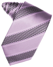 Load image into Gallery viewer, Champagne Venetian Pin Dot Striped Necktie