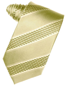 Honeymint Venetian Pin Dot Striped Necktie