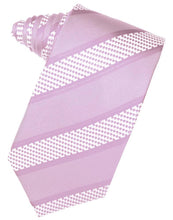 Load image into Gallery viewer, Fuschia Venetian Pin Dot Striped Necktie