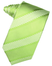 Load image into Gallery viewer, Harvest Maize Venetian Pin Dot Striped Necktie