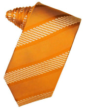 Load image into Gallery viewer, Rose Venetian Pin Dot Striped Necktie