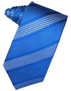 Periwinkle Venetian Pin Dot Striped Necktie